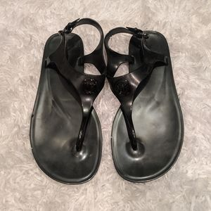 Michael Kors black jelly sandals 8